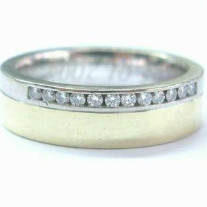 Jewelry - Fine Two-Tone Round Cut Diamond Mens Jewelry Ring